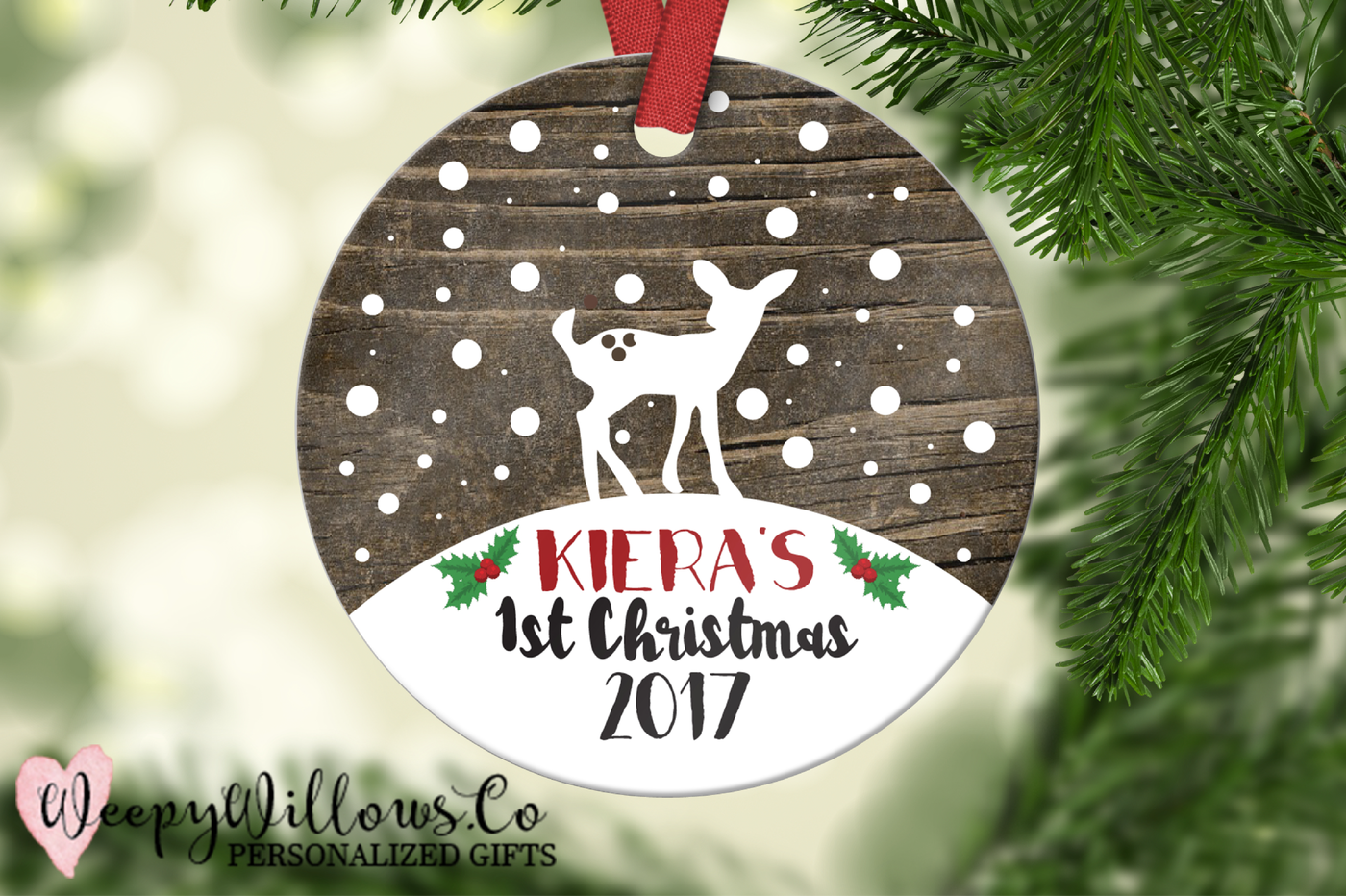 Baby Deer 1st Christmas Ornament Template By Weepywillows Co