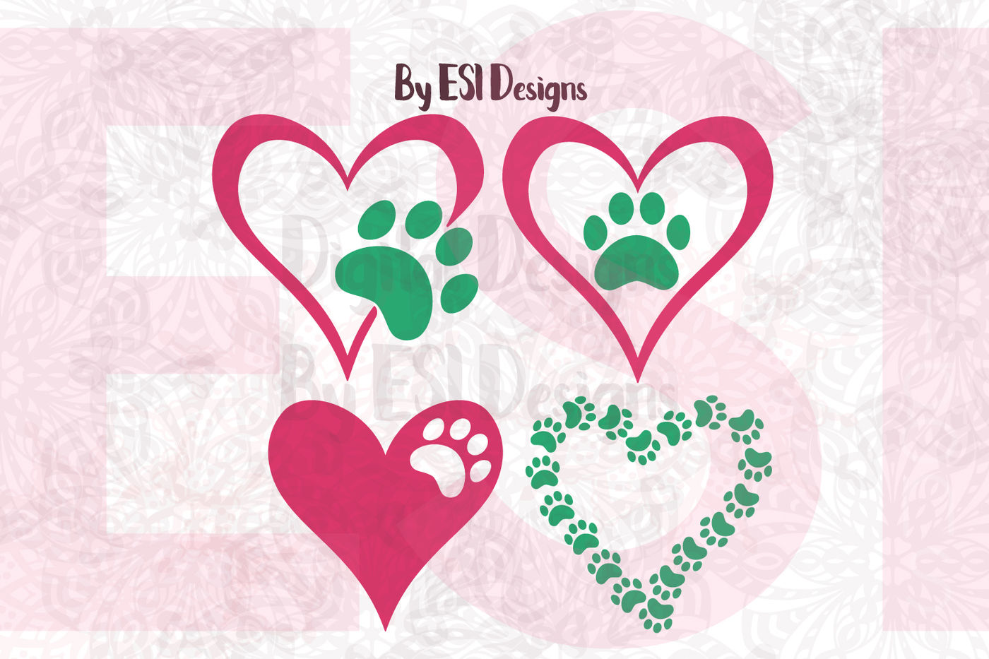Download Download Love Paw Print Svg for Cricut, Silhouette ...