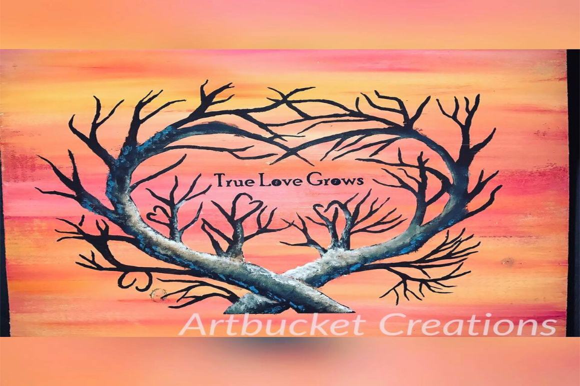 True Love Grows Tree Cutfile By Artbucket Designs Thehungryjpeg Com