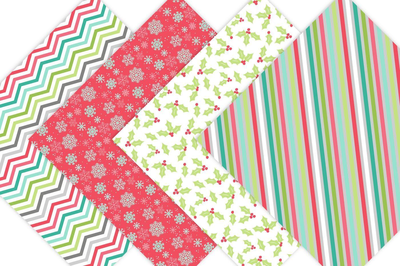 Christmas Digital Paper Patterns By Leska S Digitals