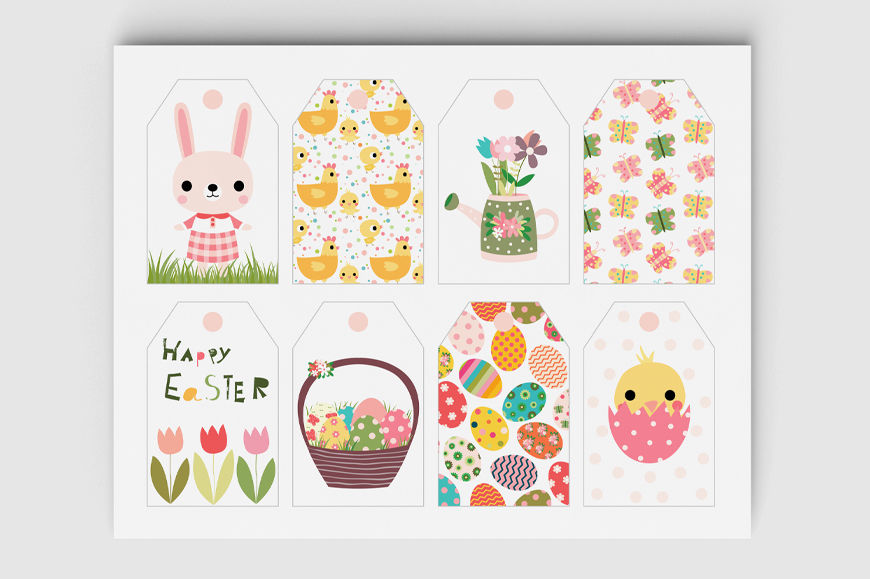 graphic about Printable Easter Tags named Printable Easter reward tags, Adorable electronic Easter tags