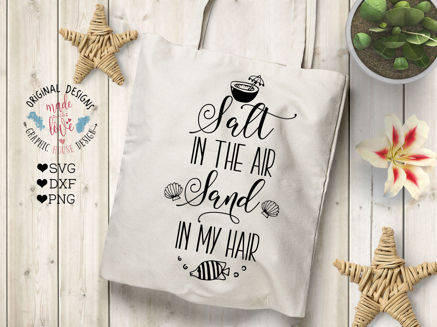 Salt In The Air Sand In My Hair Cutting File By Graphichousedesign