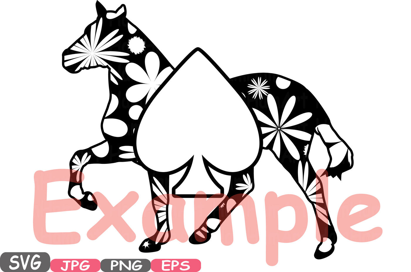 Poker Horse Frame Playing Svg Silhouette Clipart Suits Casino