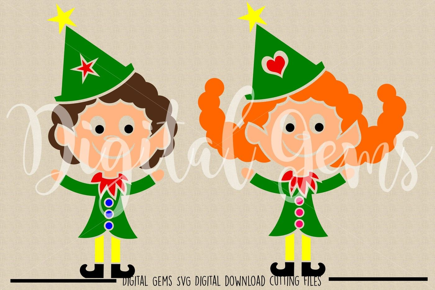 Elf Svg Dxf Png Files By Digital Gems Thehungryjpeg Com