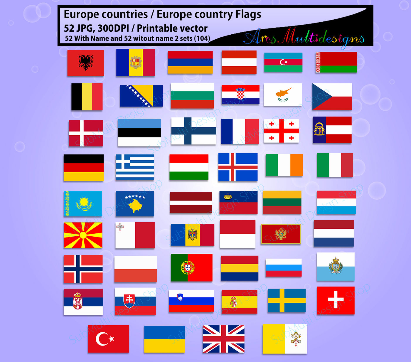 It is an image of Soft Printable Country Flags