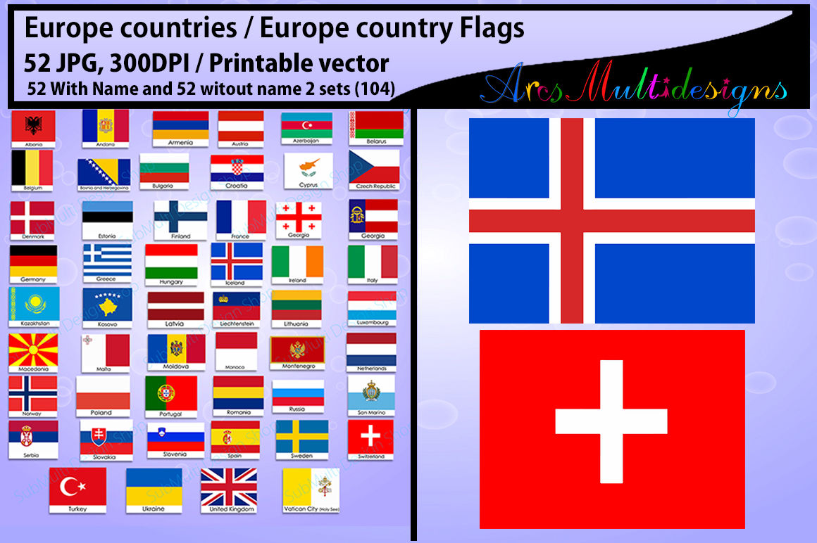 photograph relating to Printable Country Flags named Europe region Flags electronic flag PNG printable Via