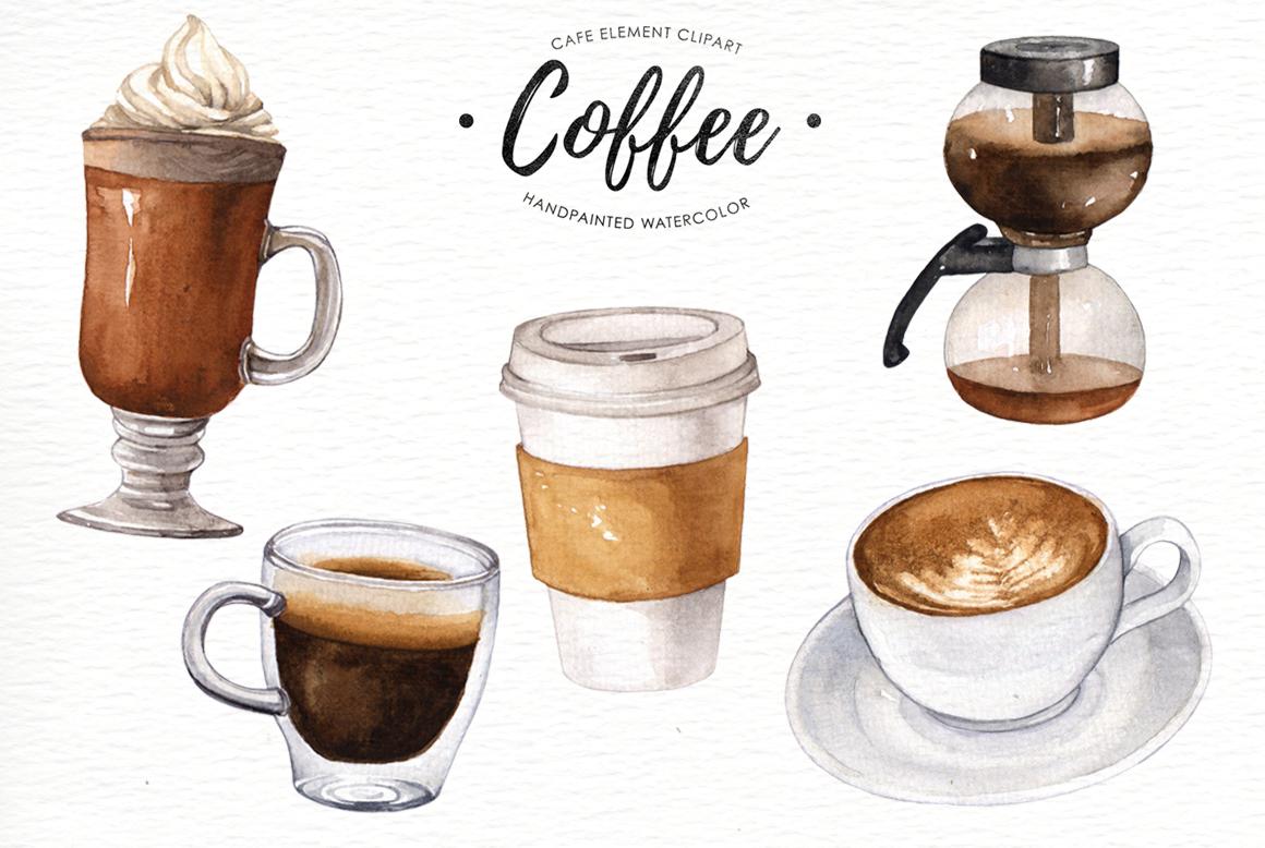 Coffee watercolor clipart By everysunsun   TheHungryJPEG.com