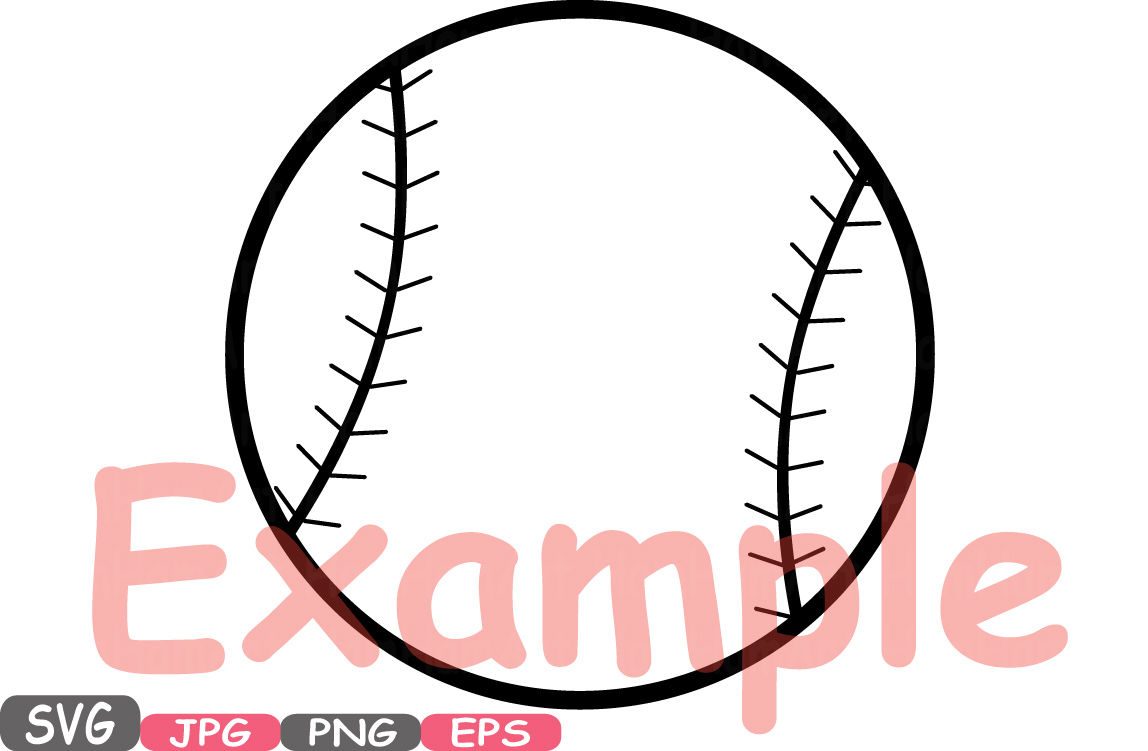 Baseball svg. Mascot cutting files clipart
