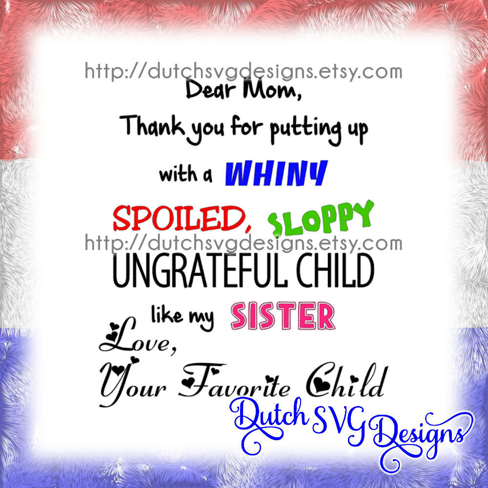 Text Cutting File Dear Mom In Jpg Png Svg Eps Dxf For Cricut