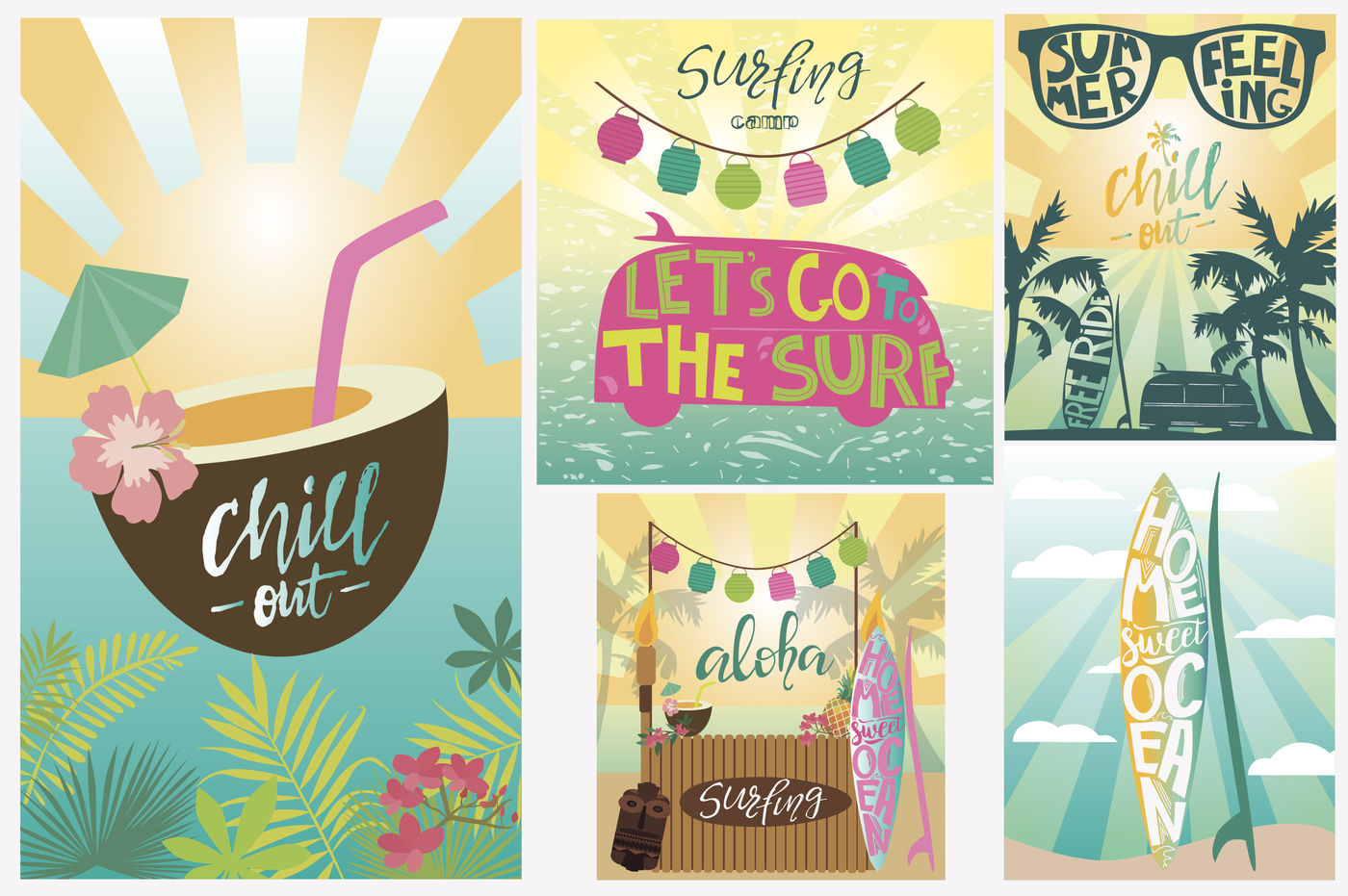 14 Surfing Logos Templates 5 Posters By Mio Buono