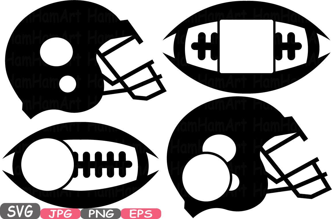 Football Sports Circle Split Frame Silhouette Cutting Files Svg
