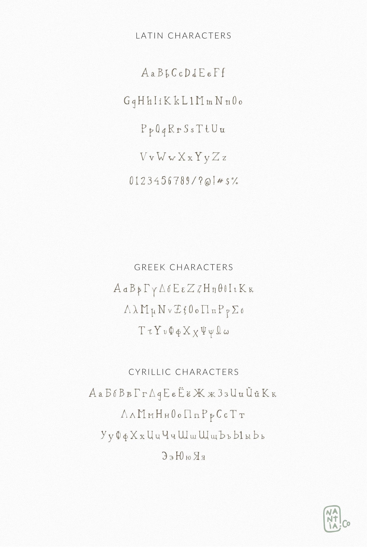 Oxya Cyrillic Greek Handcrafted Font By Nantia Thehungryjpeg Com