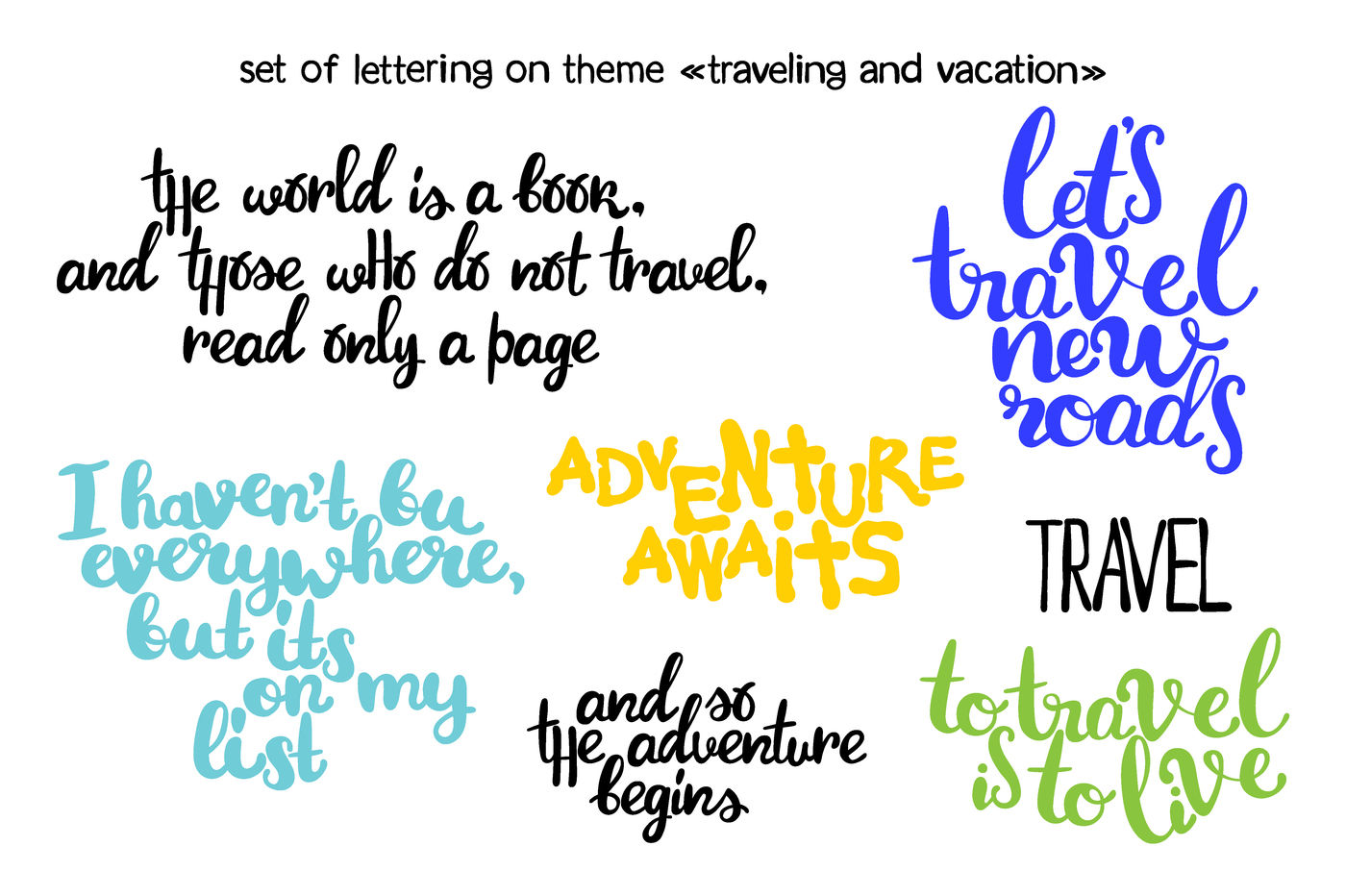 To Travel Is To Live More Travel By Ewa New Thehungryjpeg Com