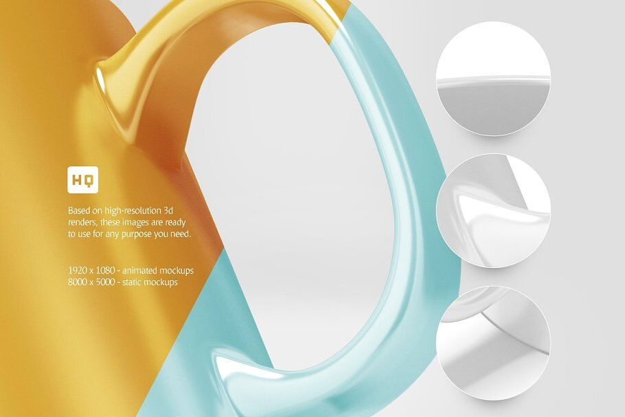 Download 3d Glass Mockup Psd Free Yellow Images