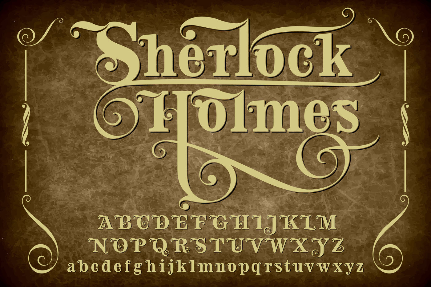Sherlock Holmes Vintage Vector Typeface Letters By Vintage Font