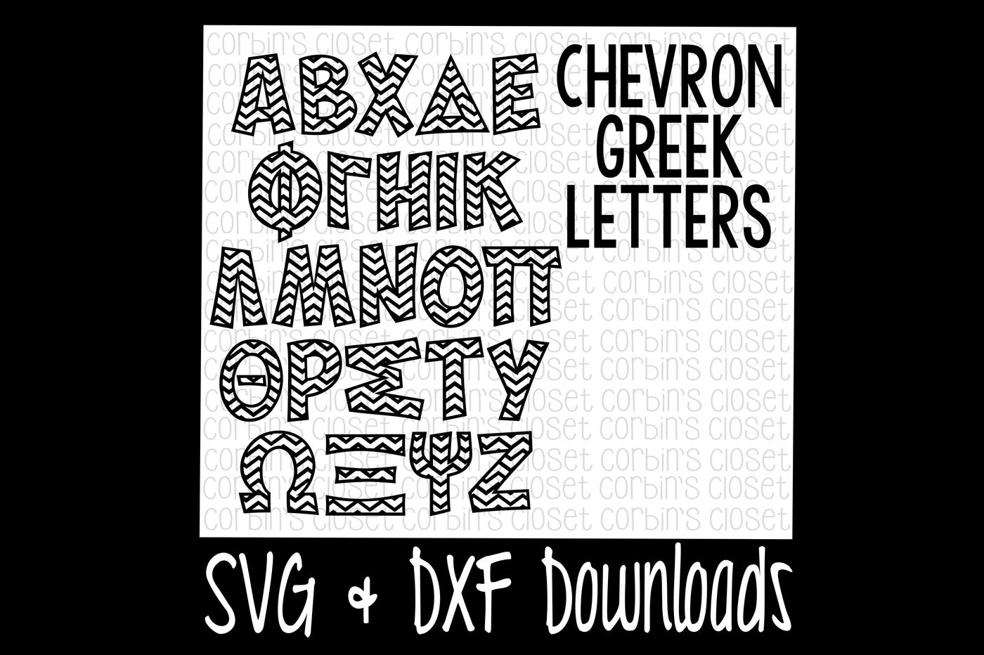 Greek Alphabet Svg Chevron Pattern Cut File By Corbins Svg
