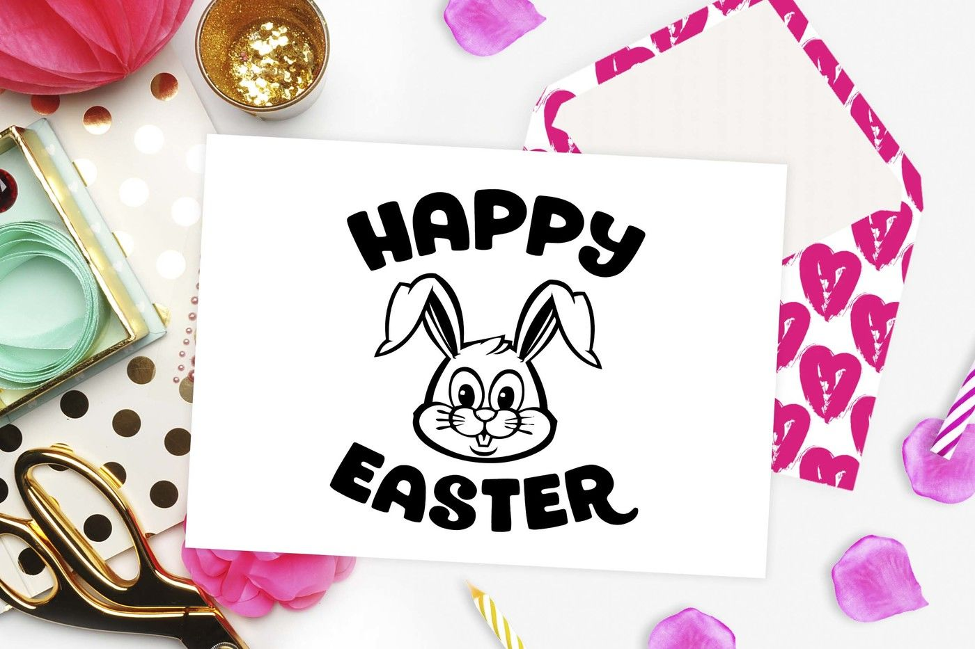 Easter Svg Happy Easter Bunny Svg Dxf Eps Png By Theblackcatprints