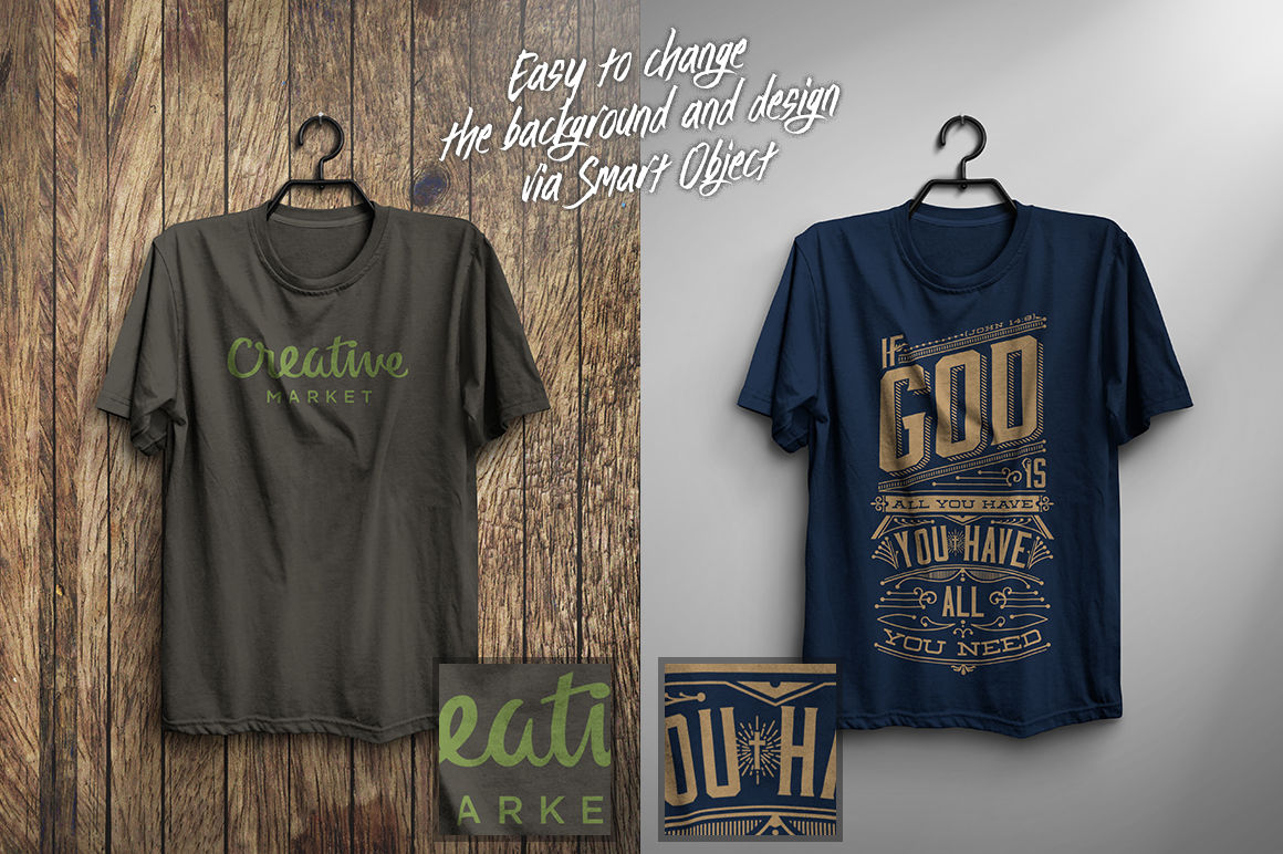 American Apparel T Shirt Mockup Psd