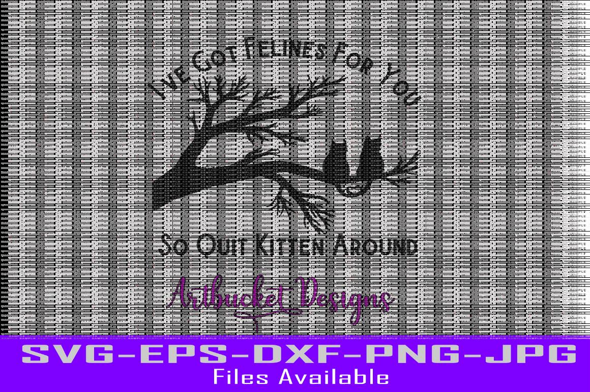 Quit Kitten Around By Artbucket Designs Thehungryjpeg Com