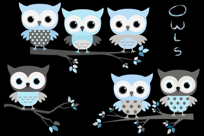 Cute baby boy clip art, Blue grey owls clipart, Baby ...