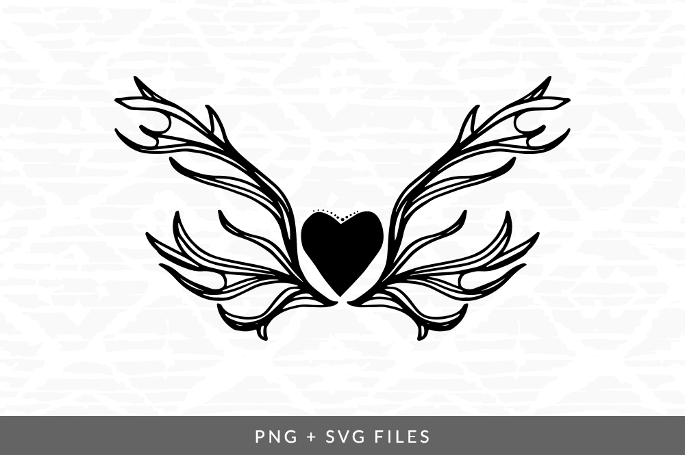 Heart Wings Svg Png Graphic By Coral Antler Creative