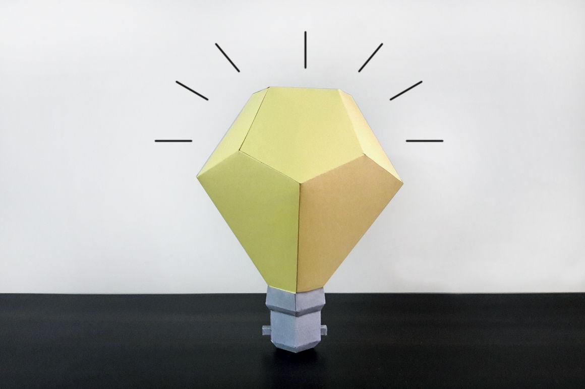 Diy Paper Bulb 3d Papercrafts By Paper Amaze