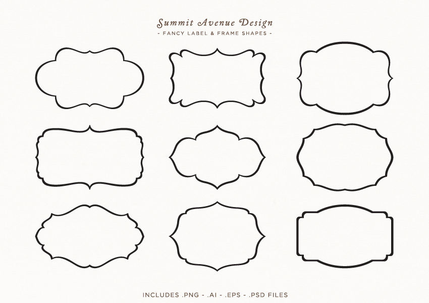 fancy frames  u0026 label shapes or borders by summit avenue