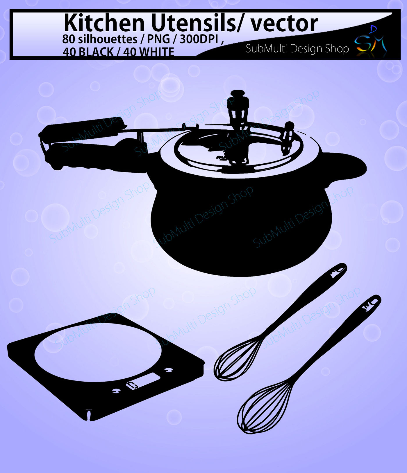 Kitchen Utensils Vector By Arcsmultidesignsshop Thehungryjpeg Com