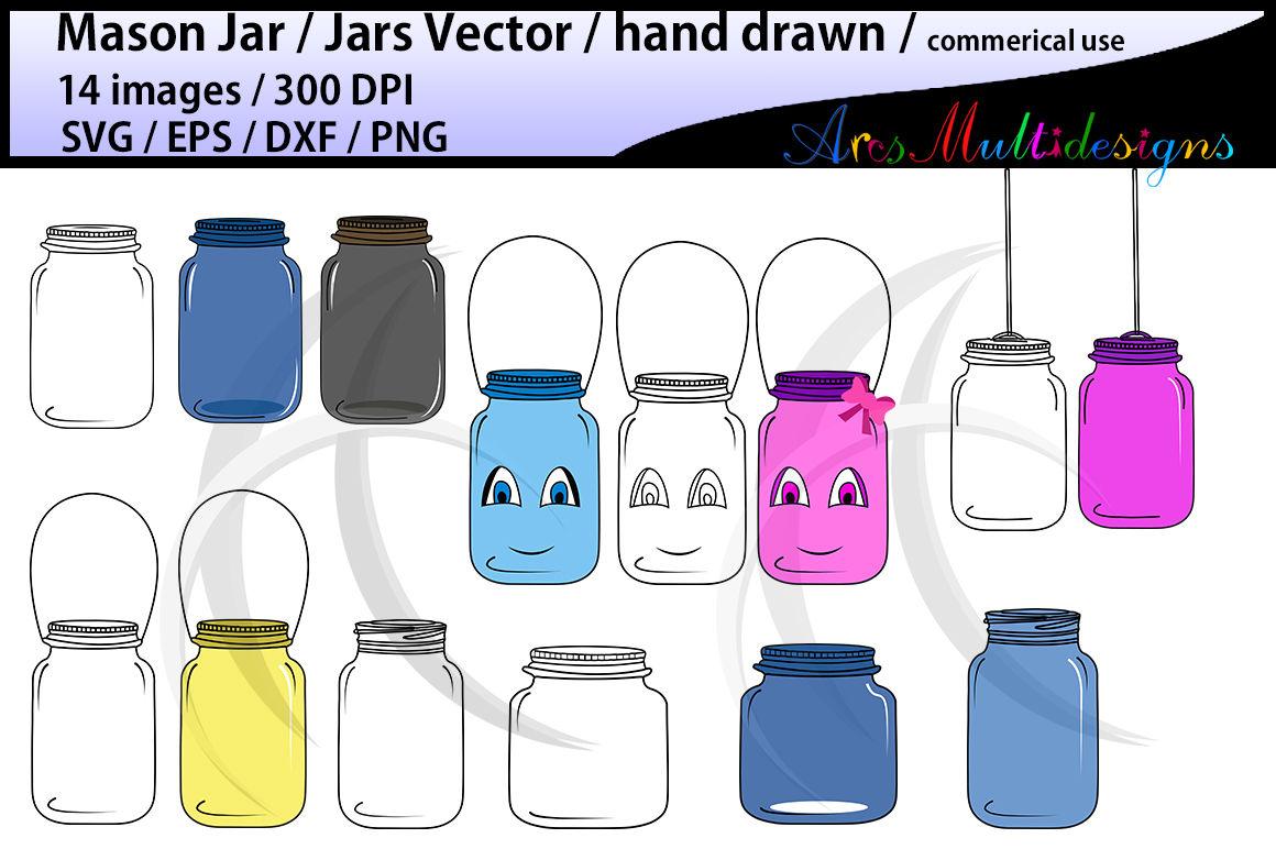 Jar Doodle Mason Jar Clipart Vectpr Svg Eps Dxf Png