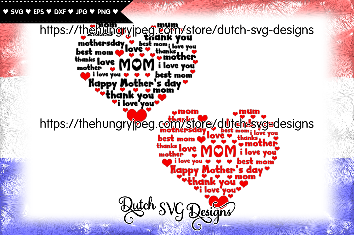 Mom Heart Cutting File Mom Svg Mothers Day Svg Mother Svg