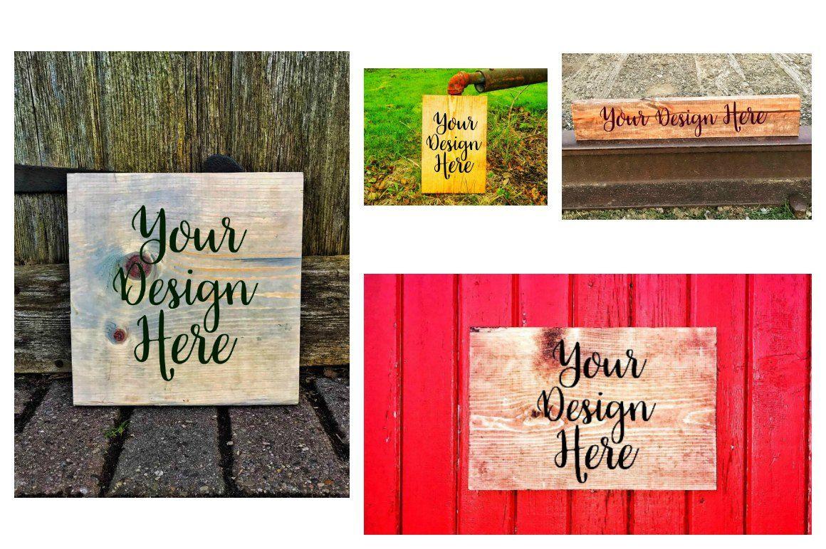 rustic wood sign mockups