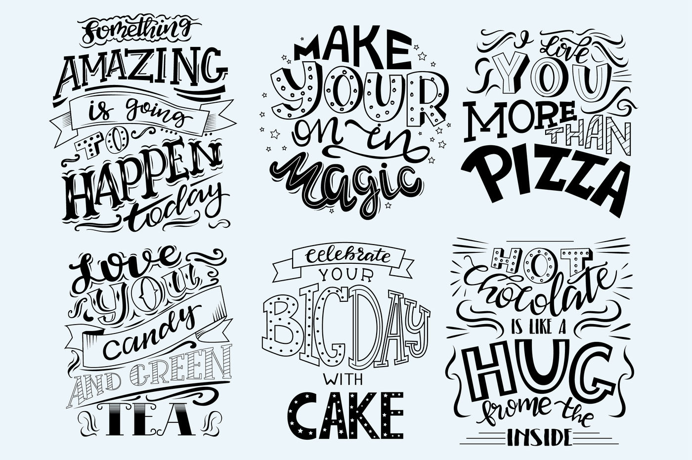 6 Hand Drawn Lettering Inspirational Quotes By Mio Buono