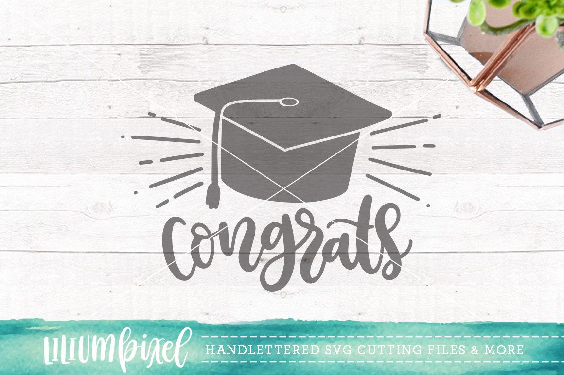 Congrats Graduation Cap Svg Png Dxf By Lilium Pixel Svg