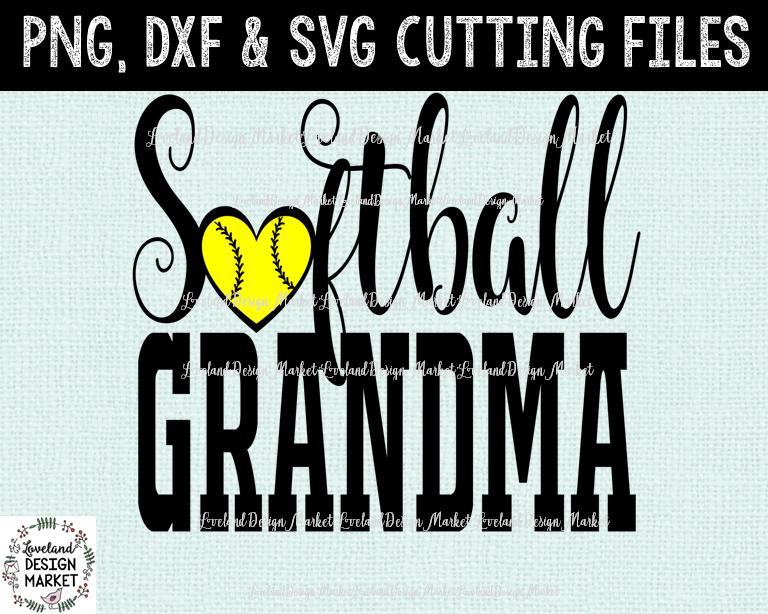 Softball Grandma Svg Softball Svg Softball Dxf Softball