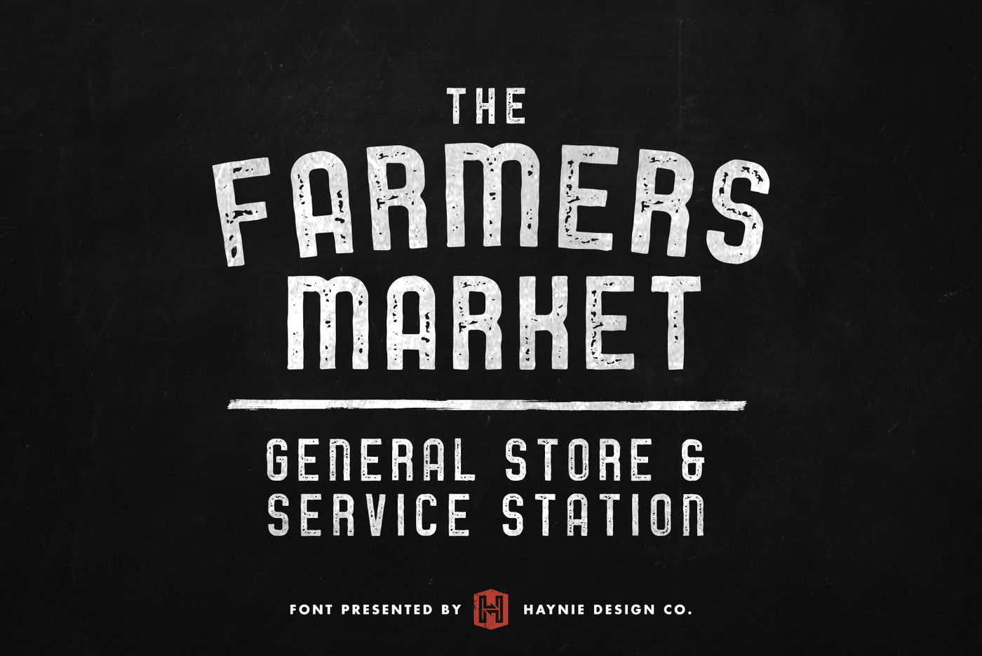Service Station Vintage Farmers Market Font By Haynie Design Co