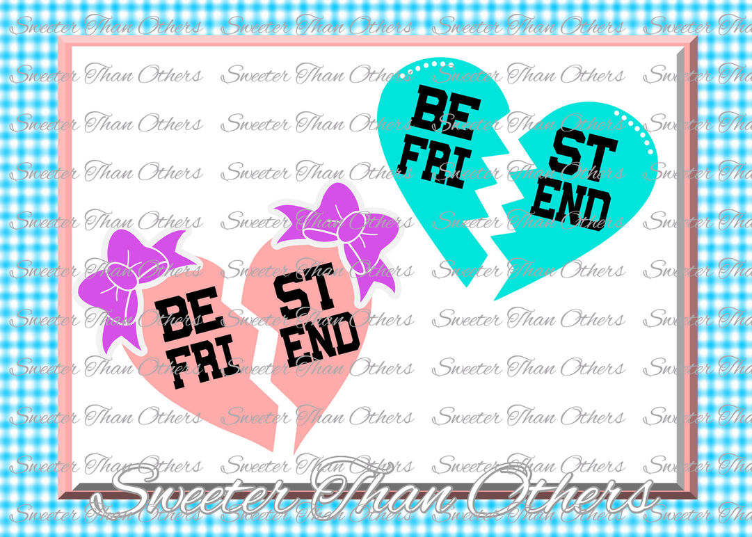 Best Friend Svg Girl Svg Baby Cutting File Dxf Silhouette Cricut