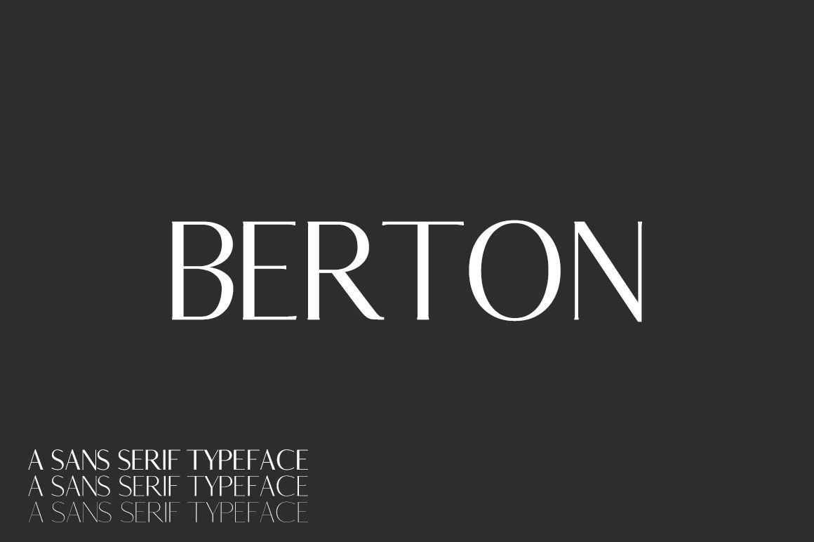 Berton Sans Serif Typeface By Creativewhoa Thehungryjpeg Com