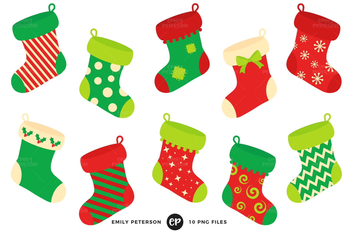 Christmas Stocking Clipart.Stockings Christmas Clipart