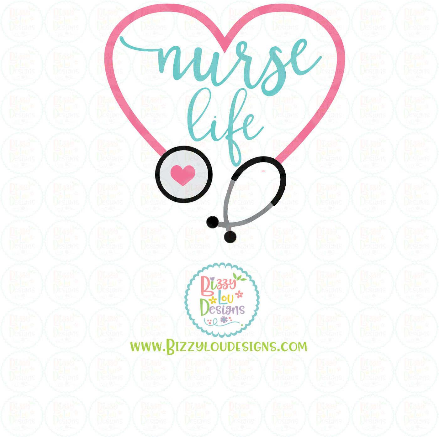 Nurse Life Svg Eps Dxf Png By Bizzy Lou Designs Thehungryjpeg Com