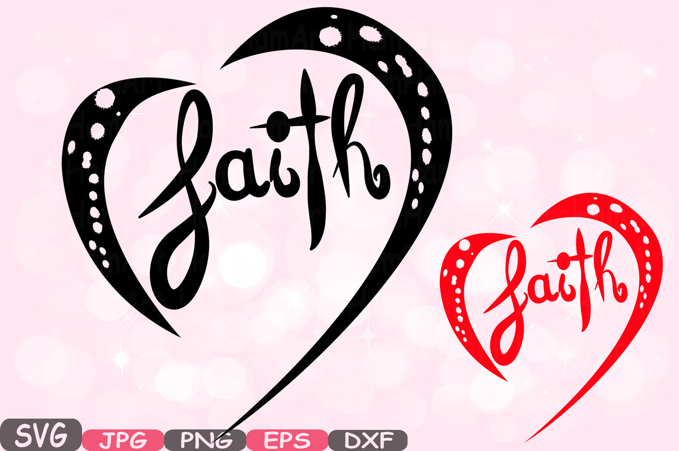 Faith Silhouette Svg Cutting Files Clipart Color Svg Christian