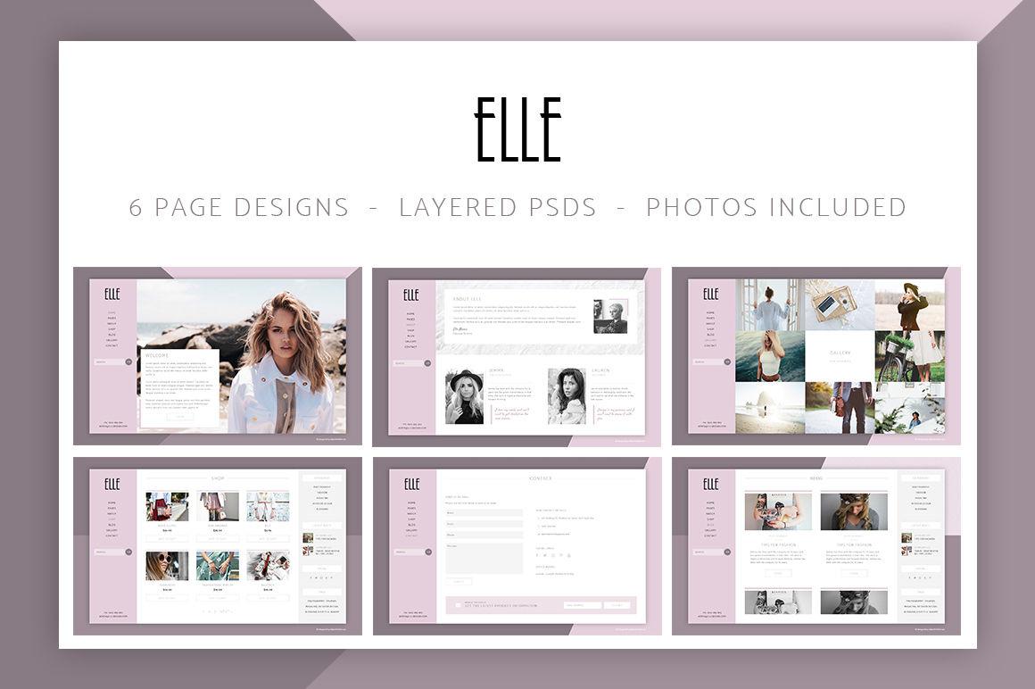 Elle Fashion Shop Blog Website 6 Photoshop Psd By Bakerwebdev