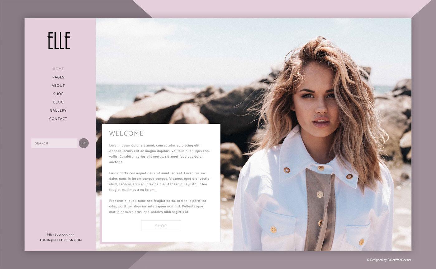 e8660332bf Elle - Fashion Shop & Blog Website 6 Photoshop PSD By bakerwebdev ...