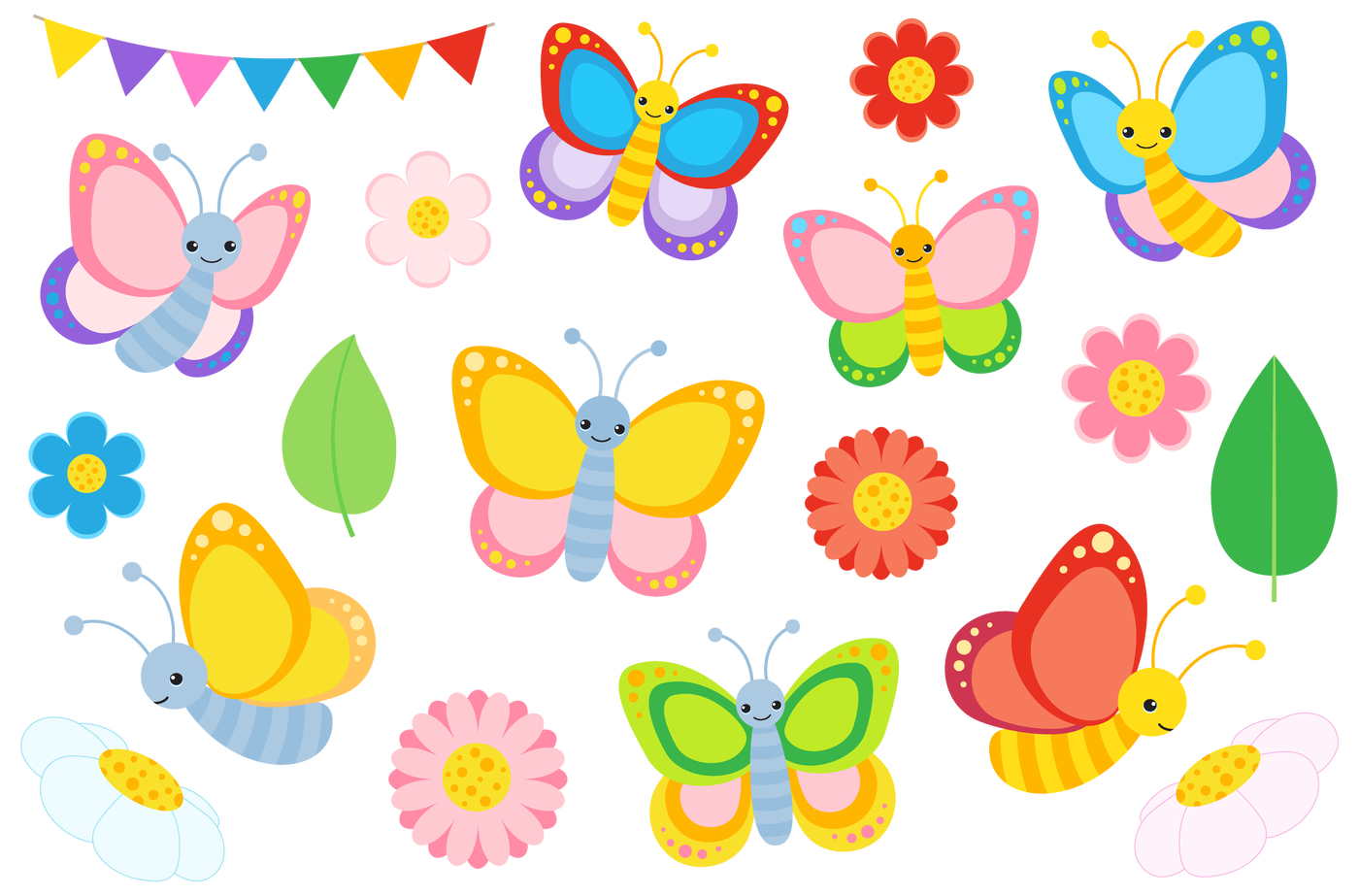 Flowers And Butterflies Clipart - Clip Art Blue Butterfly, HD Png Download  , Transparent Png Image - PNGitem