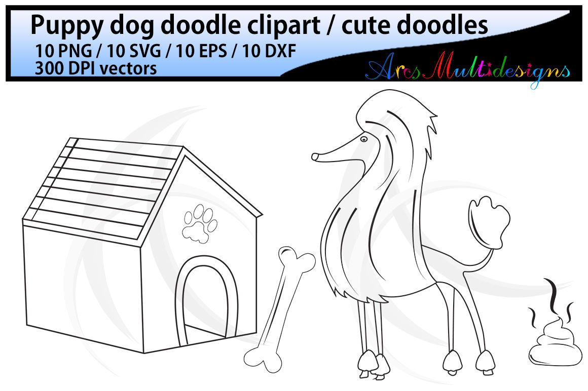 coloring for kids / hand drawn doodle dogs / cute puppy doodles