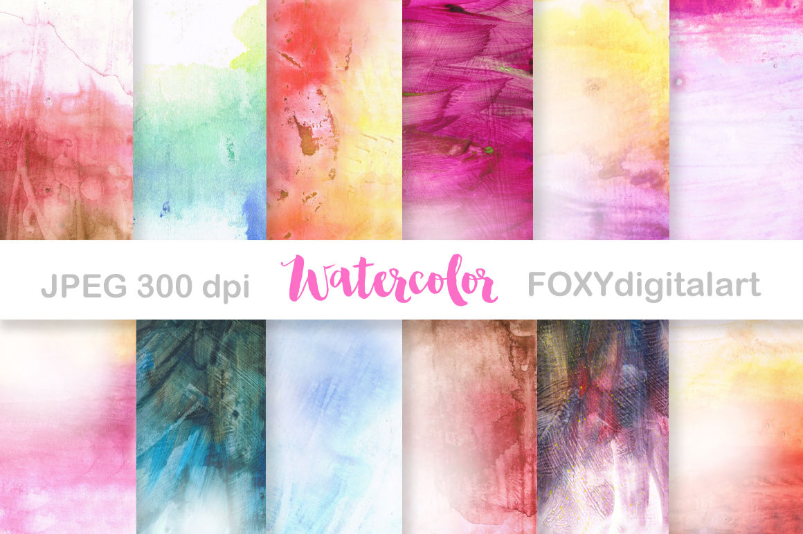 DIGITAL PAPER BACKGROUND  watercolor art backgrounds hand drawn for scrapbooking graphic design and many more