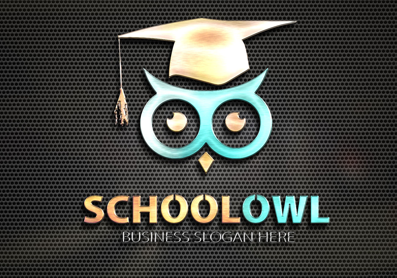 School Owl Logo By Fastudiomedia Thehungryjpeg Com
