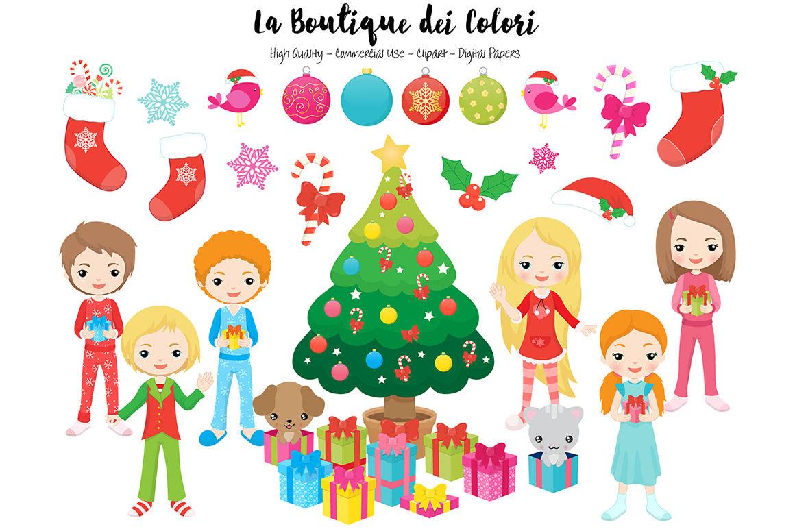 Christmas Morning Clipart By La Boutique Dei Colori