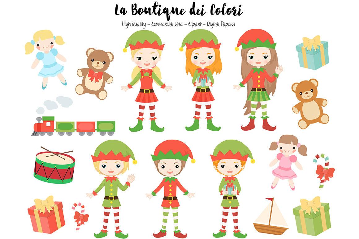 Christmas Elf Clipart By La Boutique Dei Colori Thehungryjpeg Com