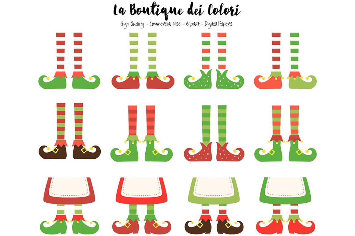 Christmas Elf Feet Clipart By La Boutique Dei Colori