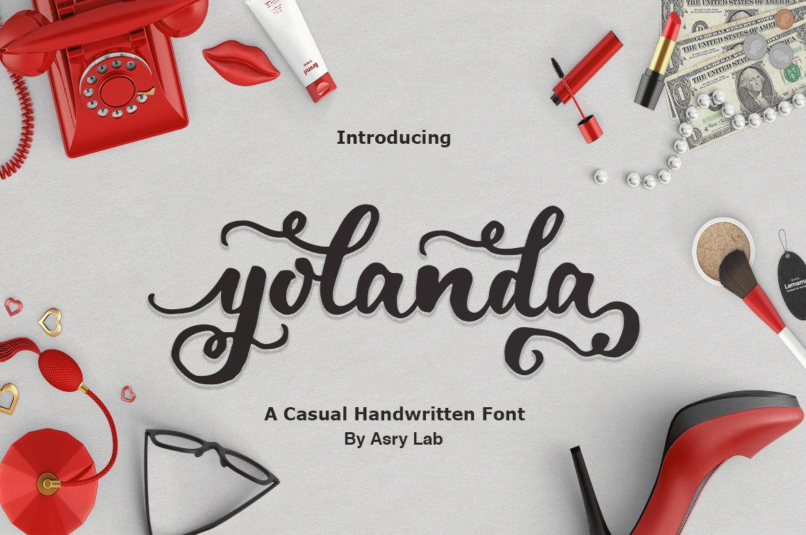 Yolanda Brush Script Font By Bald Creative Thehungryjpeg Com